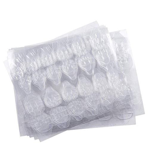 Outils Des Ongles,10 Feuilles (240Pcs) Autocollant Double Face Pour Colle à Ongles Colle GeléE Pour GeléE D'Ongles(10 Sheets (240pcs) Double-side Nail Glue Sticker False Nail Glue Jelly Gel Tape)