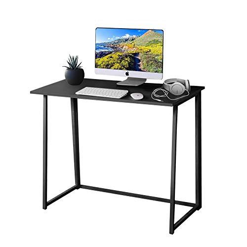 Dripex Faltbar Tisch Schreibtisch Computertisch für Homeoffice Arbeitszimmer Klappbar PC Tisch (Black)