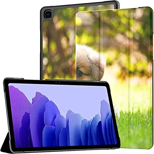 Funda para Samsung Galaxy Tab A7 Tablet de 10,4 Pulgadas 2020 (sm-t500 / t505 / t507), Adorable Pembroke Welsh Corgi Puppy Sittind Funda de Soporte de múltiples ángulos con activación/suspensión au