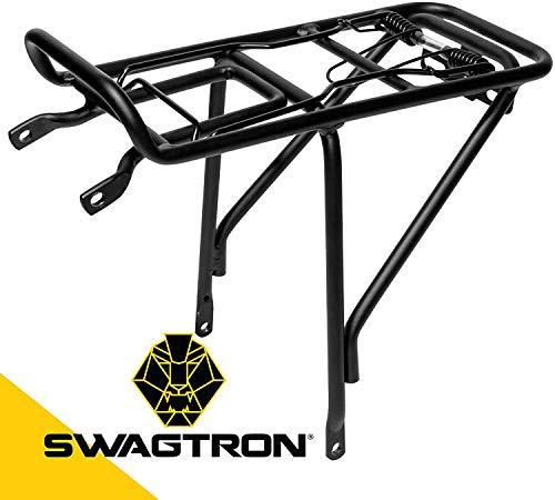 Swagtron V2 Rear Cargo Rack Light-Duty Carrier for EB-5 Pro e-Bike, Black