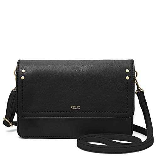 Relic by Fossil Women's Charley Convertible Crossbody Handbag, Color: Black Model: (RLH9014001)