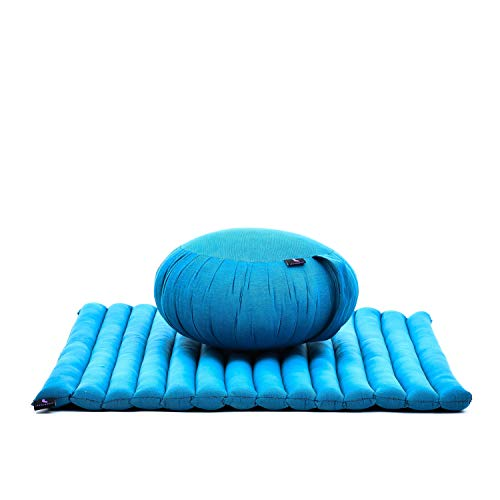Leewadee Set per meditare: Tappeto per Yoga Zabuton e Cuscino per Meditazione Zafu