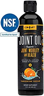 Onnit Joint Oil: Emulsified Liquid Fish Oil to Support Joint Health and Mobility - Tangerine Flavor (12oz)