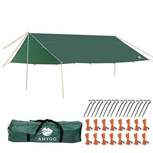 Anyoo Ripstop Regen Schutzdach Strand Zelt Hängematte Sonnenschutz Leichter Wasserdichter Schutz Für Camping Wandern