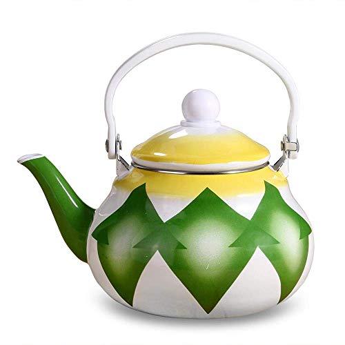 Hoge kwaliteit Enamel Waterketel met Anti-hot Handle gemakkelijk schoon te maken Theepot maken Koffie- en Hot Water, 1.5L (Size : 1.5L)