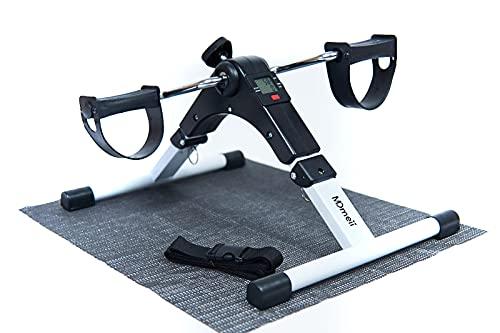 MDmeii Mini bicicleta estática plegable, pedales estáticos, ejercicio en casa para tonificar piernas y brazos, ajustable, pantalla LCD. Rehabilitación