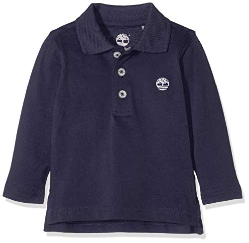Timberland Timberland Baby-Jungen Polo Manches Longues Poloshirt, Blau (Indigo Blue), 12-18 Monate