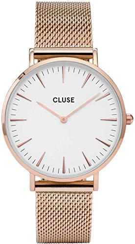 Cluse Orologio da Donna Analogico al Quarzo con Cinturino in Acciaio Inox – CL18112, 38 mm, Rose Gold