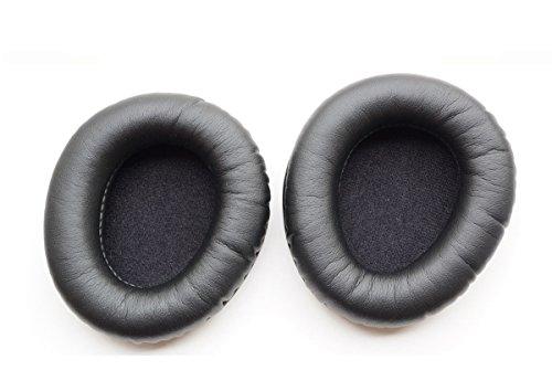 1 par de Almohadillas para Orejas para Auriculares Creative Aurvana Live (Piel) (Negro)