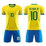 Photo de LDFN Maillot de Football Neymar Da Silva # 10 Maillot De Football, 2020 Maison Jersey Hommes De Football Et Les Enfants du Brésil (Color : A, Size : Child-26)