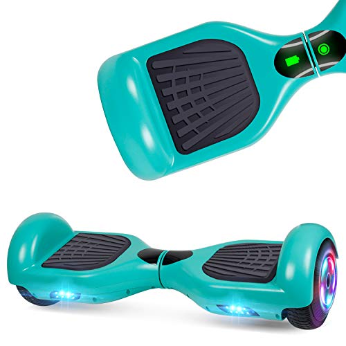 UNI-SUN Self Balancing Hoverboard Two-Wheel Hoverboard for Kids with LED Lights - UL 2272 Certified, Green