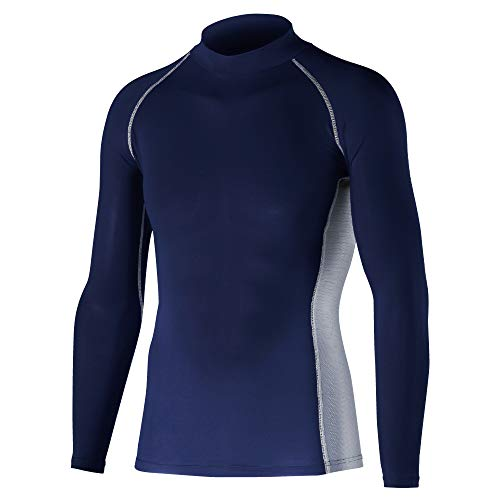 Otafuku Glove Long Sleeve High Neck Shirt JW - 625 Body Toughness Cooling & Deodorizing Power Stretch, nvy