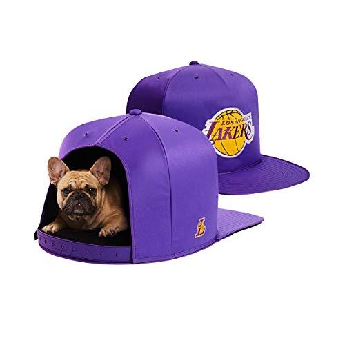 NAP CAP NBA Los Angeles Lakers Team Branded Indoor Pet Bed, Purple (Small)