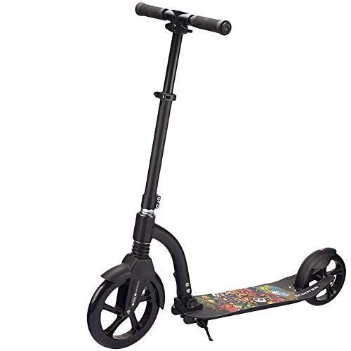 Hurricane City Scooter, City Roller Plegable y Ajustable en Altura 31-39 Pulgadas, 230 mm Giant Wheel, Kick Scooter para Adultos y Niños, Freestyle en el Skate Park, Diversión Conduciendo