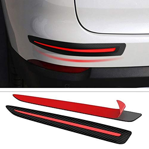 Mioloe 2pcs Car Sticker Paraurti Protezione Anteriore Posteriore Bordo Angolo Guardia Scratch Protectior Strip per SUV MPV Berlina Auto
