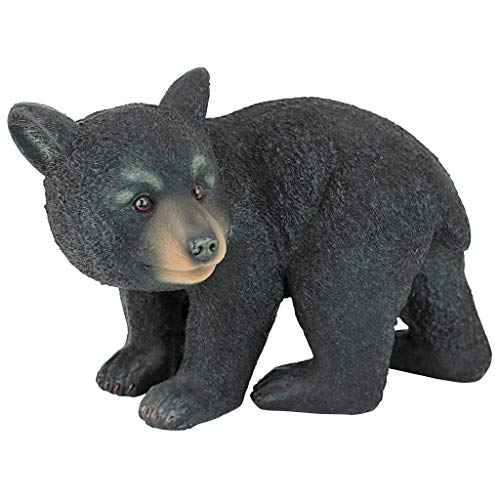 Design Toscano QM2594300 Roly-Poly Bear Cub Statue, Walking Bear,Full Color