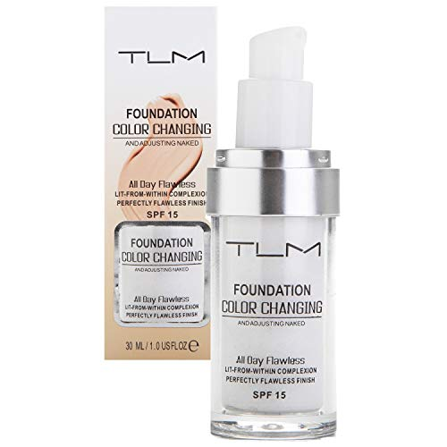 TLM Color Changing Foundation Liquid Base Makeup Change To Your Skin Tone By Just Blending Change Skin Color Foundation 30ml