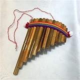CHUJIAN Instrument de Musique Indiana flûte de pan Equateur Pérou panflute Couleur Lumineux (Couleur : Large Size)