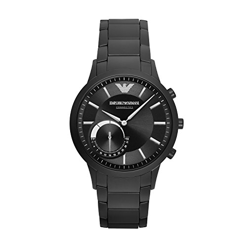 Emporio Armani Smartwatch Híbrido para Hombre de Connected con Correa en Acero Inoxidable ART3001