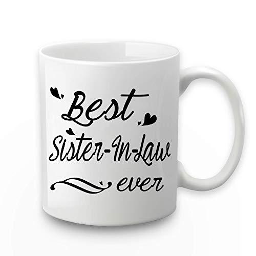 Taza de la mejor hermana en la ley de la mejor hermana en la ley regalos de hermana hermano en la ley regalos para hermana en la ley de hermano en la ley 11 oz con caja de regalo