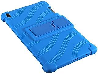 Beststartjp NEC LAVIE Tab S TS508/FAM PC-TS508FAM タブレット 専用ケース カバー 8インチ スタンド機能付き 保護ケース 傷つけ防止 全面保護型 シリコーン 色選択可能 (ダークブルー)