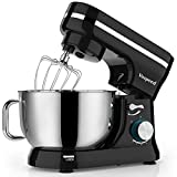 Vospeed Food Stand Mixer Dough Blender, 5 QT 1000W Electric Cake Mixer with Bowl, Beater, Hook, Whisk, Egg Separator & Silicone Spatula, Dishwasher Safe (Black)