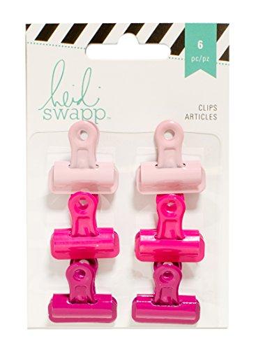 American Crafts Heidi Swapp-Clip Bulldog, Colore Rosa, in Acrilico, Multicolore