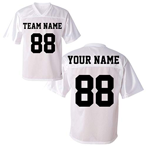 Custom Sport Jerseys for Men Women Youth - Personalize Your Own T Shirt & Team Uniforms White