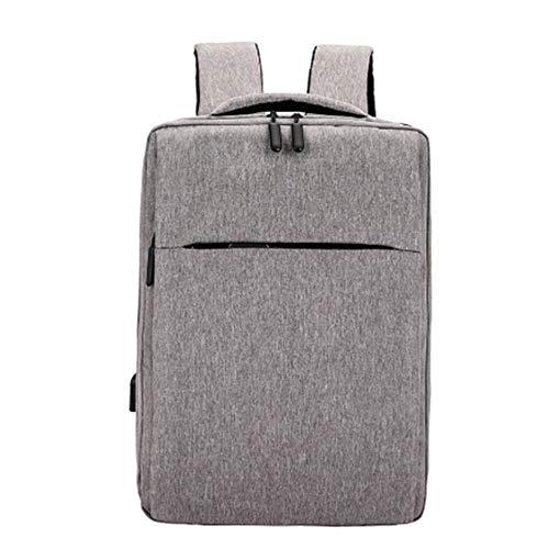 Zaino impermeabile per computer portatile con porta di ricarica USB, multifunzionale, da uomo, grande capacità, impermeabile, con ricarica USB Grigio Light Grey