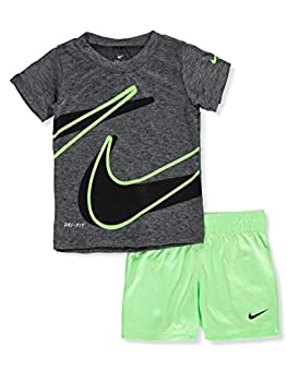 Nike Baby Boys  2-Piece Shorts Set Outfit - Lime Blast 24 Months