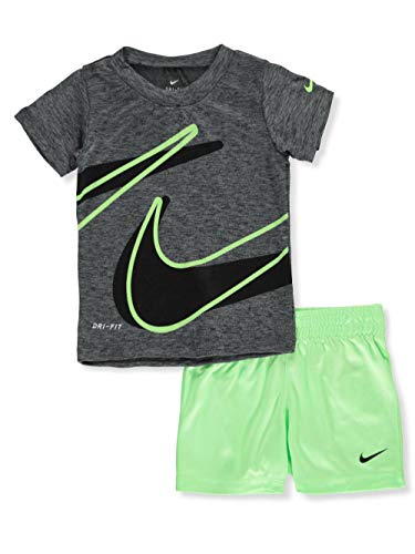 Nike Baby Boys' 2-Piece Shorts Set Outfit - Lime Blast, 24 Months