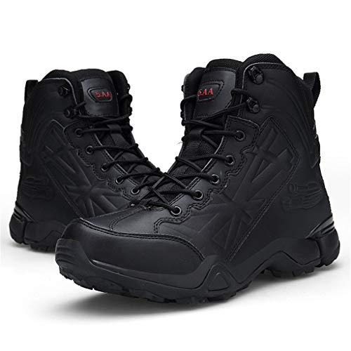 Herren Combat Boots,Herren Wanderstiefel Halbhoch Wasserdicht Training Taktische Stiefel Stiefeletten Trekkingstiefel für Outdoor Camping Wandern Bergsteigen Wüsten Riou
