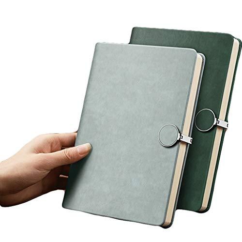 HJHJ Cuadernos Gobernado Notebook A5 PU Cuero, revistas, Hebilla Hardcover College, for reuniones de Trabajo Escuela de Mujeres for niños, Multifuncional Interior Página blocs de Notas