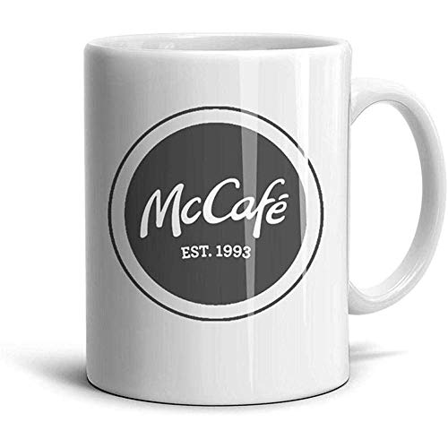 Taza de cerámica blanca pedos McCafe TeaMugs 330ML