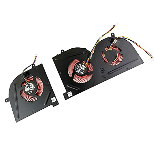 Replacement CPU + GPU Cooling Fan for MSI GS63 GS63VR 6RF 6RF-001US 7RF 7RF-212UK GS73 GS73VR 6RF 6RF-005CA 7RF 7RE-004CN 7RG 7RG-026RU 7RG-039NL MS-16K2 MS-17B MS-17B1 BS5005HS-U2F1 BS5005HS-U2L1