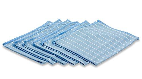 RESPEKT Mikrofasertücher Brilliant Bambus 6tlg Set (40x50cm) - blau/weiß