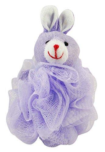 Divo Cute Animal Shape Bath Sponge Body Exfoliate Puff Pouf Spa Loofah Mesh Luffa Loofah Body Scrubber- 1 Pc by DIVO