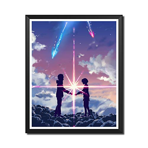Yansang Your Name Anime Art Prints Wall Art Picture for Bedroom Home Decor Canvas Print Poster,8 x 10 Inches,No Frame