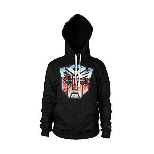 Transformers Distressed Autobot Shield Hoodie (Noir), Large