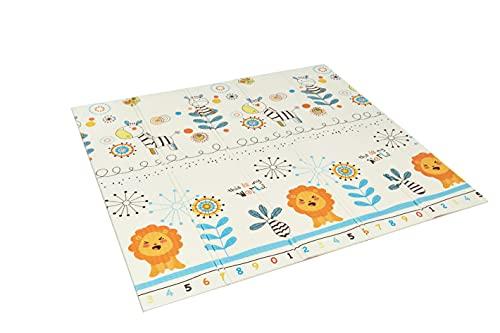 Alfombra infantil plegable Suelo para bebes acolchado 2 caras, impermeable y lavable 180 cm x 200 cm (Modelo 5)