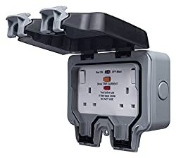 AN INCREDIBLY ROBUST AND HIGH IMPACT OUTDOOR DOUBLE POWER SOCKET WITH LATCHING RCD: From BG Electrical Storm Range, for safe electricity supply outdoors WEATHERPROOF AND DUST PROOF RATING OF IP66: With two RCD sockets manufactured to BS 7288 and a cl...