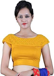 8932036c0479d6 Gebisha Fashion Women's Lycra Designer Shoulder short sleeve Stretchable  Blouse