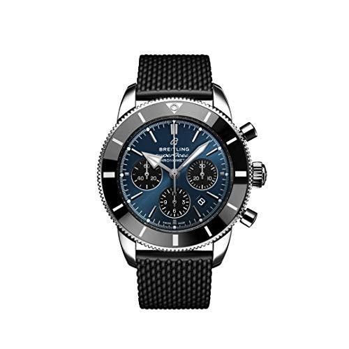 Breitling Superocean Heritage II Cronógrafo B01 44mm Reloj Esfera azul con subesferas negras (Blackeye azul)