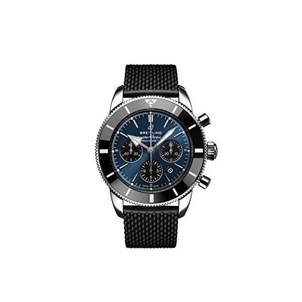 Breitling Watches Breitling Superocean Heritage II Chronograph B01 44mm Watch Blue Dial with Black