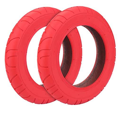 Konesky Neumático para Patinete Electrico, Reforma de DIY 10 Pulgadas Ruedas de Reemplazo Antideslizamiento Scooter Eléctrico Compatible con Xiaomi M365 (2 Pieces Rojo)