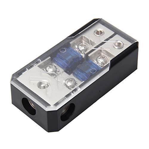 LLJDD Coche Stereofony Car Audio Fuse Titular Seguro 60A AUTRO Audio Fusible Holder 1 en 2 Maneras Coche Auto Fusible portafusión Holde Holdedor para Audio de automóvil