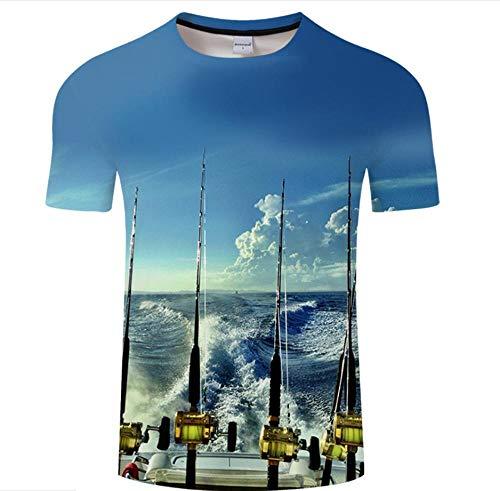 WPYDHM Blue Sea T-Shirt Imprimé 3D Nouveauté Haut À Manches Courtes Unisexe Vêtements-2Xs
