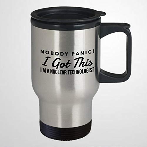 Divertida taza de viaje para tecnólogo nuclear tecnólogo nuclear tecnólogo humor, taza de viaje, taza de té, regalo de vacaciones
