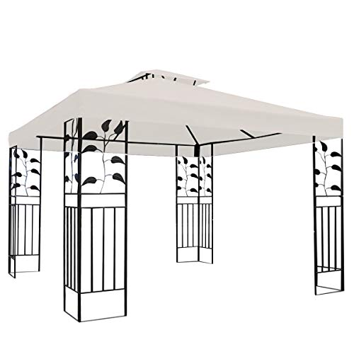 AllYouWant Patio Gazebo Replacement Canopy 2-Tier 3 X 3M Cover in Beige