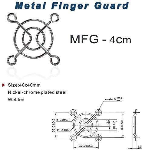 Partes de PC Cubierta MMGZ 10 PCS Ordenador Ventilador del chasis a Prueba de Polvo Caso de la Red, Tamaño: 4 cm